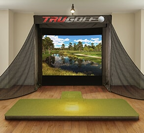golf simulator option