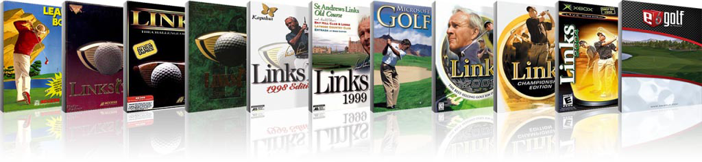 Golf course software covers