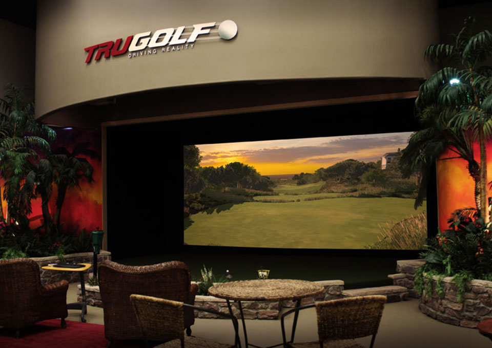 Built-in Golf Simulator Front View