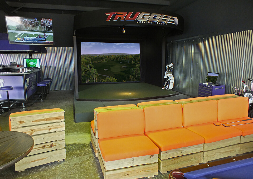 Golf Simulator Front View 2
