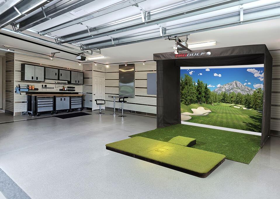 Golf Simulator in Large Room